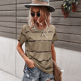 Round Neck Cotton Short-sleeved Clothing NSDY41970