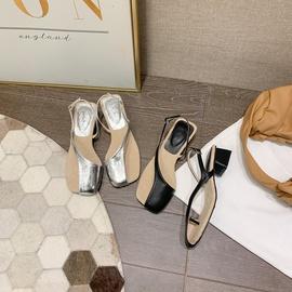 Low Heel New Summer Transparent Sandals NSCA42327