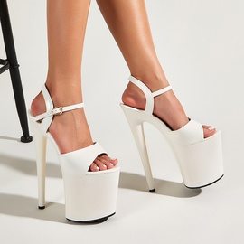 New High-heeled Thick-heeled Sandals NSSO42432