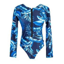 Zipper Sexy Long Sleeve Sunscreen Swimsuit  NSHL42456