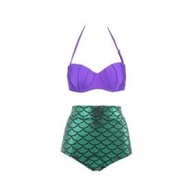 Mermaid High Waist Split Swimsuit NSHL42492