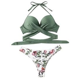 Cross Split Backless Swimsuit NSHL42506