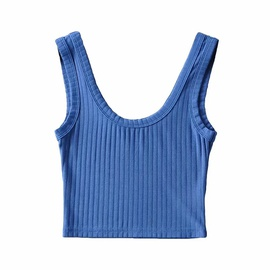U-neck Slim Stretch Yoga Vest NSAC42598