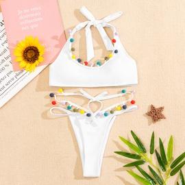 Solid Color Nylon Split Type Bikini NSZO42838