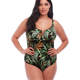Plus Size Printed One-piece Swimsuit  NSHL43140