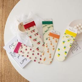 Printed Transparent Thin Silk Socks  NSFN43160