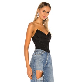 Pure Color Corset Top NSHLJ43228