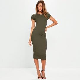 Round Neck Short-sleeved Cotton Long Dress NSZY38624