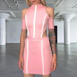 New Strip Stitching Slim Dress  NSXE38647