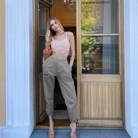 Fashion Casual Loose High-waisted Harem Trousers  NSXE38672