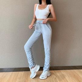 Fashion Casual High Waist Pleated Trousers  NSXE38717