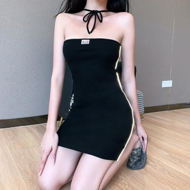 New Fashion Sexy Stripe Sling Dress NSXE38733