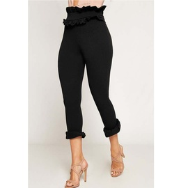 Solid Color Slim Cropped Pencil Pants  NSCZ38806