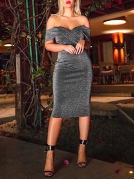 New Sexy Hollow One-line Neck Slim Fit Skirt NSCZ38822