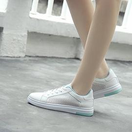 Breathable Mesh White Flat Shoes NSNL43548