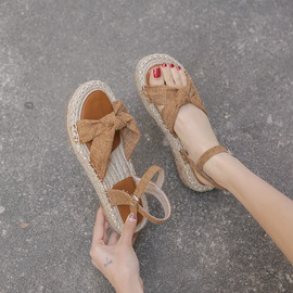 New Bohemian Straw Shoes NSCA43581