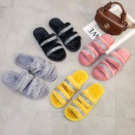 Breathable Flat-heeled Slide Slippers NSPE43781