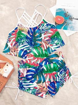 Printed High Waist Swimsuit NSHL44047