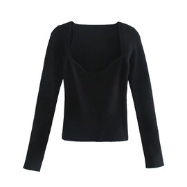 Spring Fashion Solid Color Long-sleeved Sweater NSHS44294