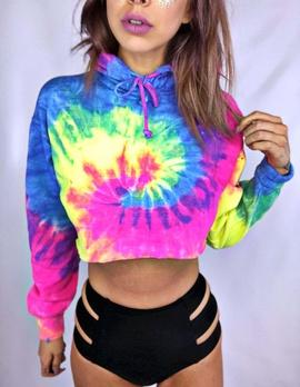 Fashion Tie-dye Hooded Sweatershirt NSXZY44499
