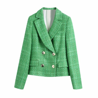 Textured Double-breasted Blazer  NSAM44605