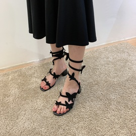 Thick Heel Snake-shaped Sandals  NSSO44734