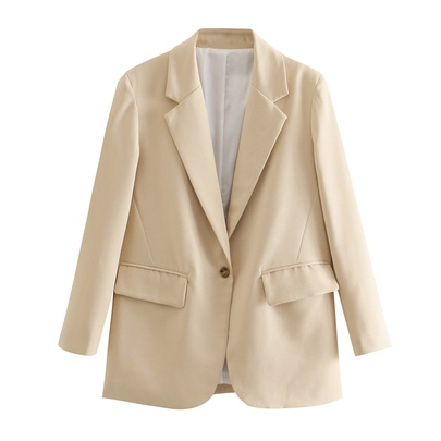 Casual Button Front Blazer & Skirt Set NSAC44947