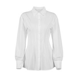 Folds Waist Lapel Design Shirt NSYSB45268