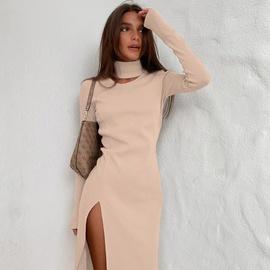 New High-neck Slim Dress NSYSB45274