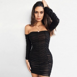 Long-sleeved Sexy Top  NSZY45371
