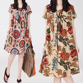 Summer New Large Size Loose And Thin Dress NSYF45386