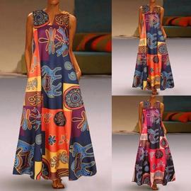 New V-neck Sleeveless Dress NSYF45387