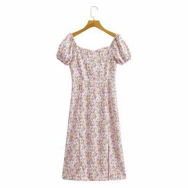 Split High Waist Slimming Dress NSAM45432