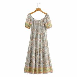 Retro Holiday Style Printed Dress NSAM45443