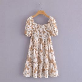 Spring Square Neck Dress NSAM45445