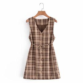 Spring Retro V-neck Dress NSAM45455