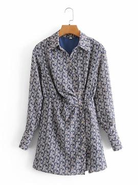Long-sleeved Waist Short Skirt NSAM45466