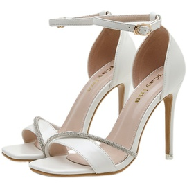 Rhinestone Stiletto Buckle Sandals NSCA45495