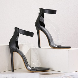 Transparent Cross Stiletto Sandals   NSCA45532