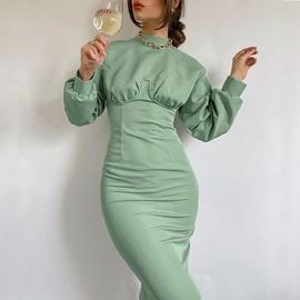 Long-sleeved Knitted Skirt NSYSB45575