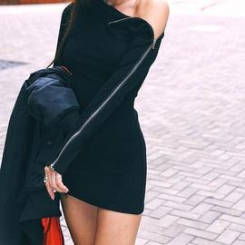 Autumn Mid-length Zipper Dress NSXYA45688