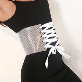Fashion Bling Decor Wide Belt NSXYA45696
