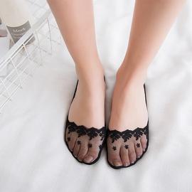 Lace Decor Mesh Sheer Socks NSFN45711