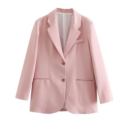 Loose Pink Suit Jacket NSAM45784