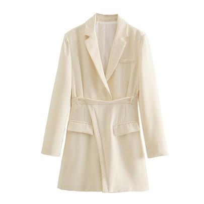 Solid Color Suit Dress NSAM45789