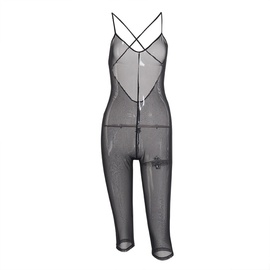 Transparent Mesh Sling One-piece Bodysuit  NSMX45887