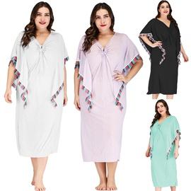 Plus Size Irregular Beach Dress NSOY45937