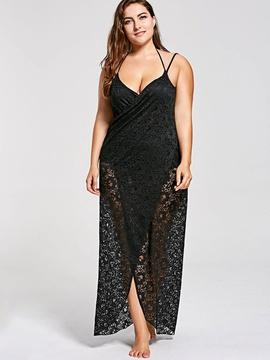 Plus Size Lace Dress NSOY46014