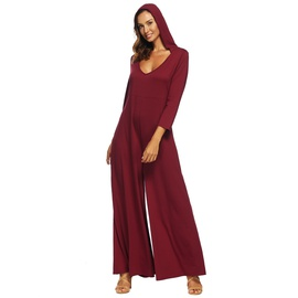 Hooded Wide-leg Jumpsuit  NSOY46061