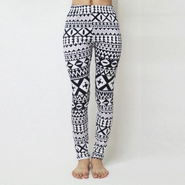 Geometric Irregular Printing Leggings NSOY46084